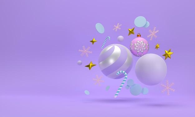 Celebrazioni festive per il capodannofesta di natale palle di natale nastri scatole regalo fiocchi di neve