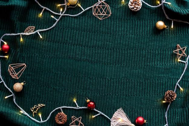Design natalizio con lucine natalizie
