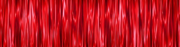 Sfondo rosso decorativo rosso festivo di tende fatte di strisce verticali sfocate in movimento