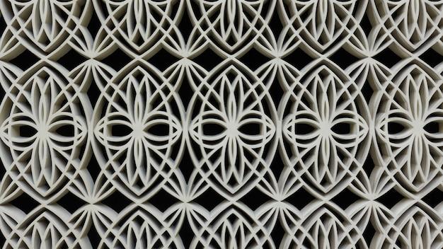 Ornamento per finestra arabo figurato, può essere utilizzato come sfondo