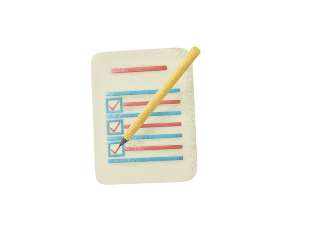 L'icona realistica di concetto di documento di archivio ha messo l'illustrazione 3d isolata su fondo bianco