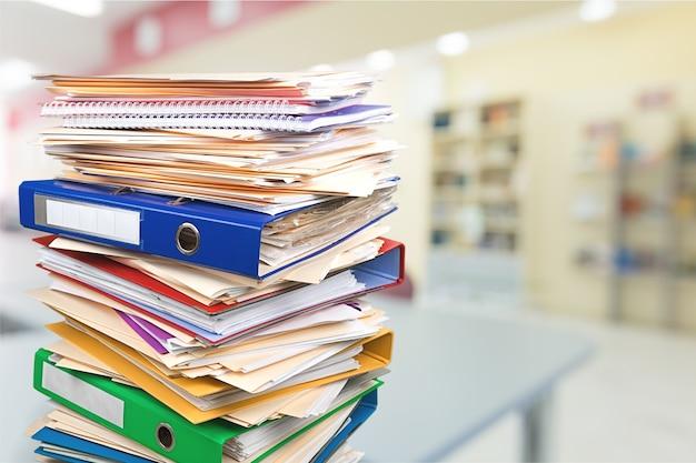 Cartelle di file con documenti