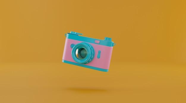 Fotocamera a pellicola con copia spazio.
