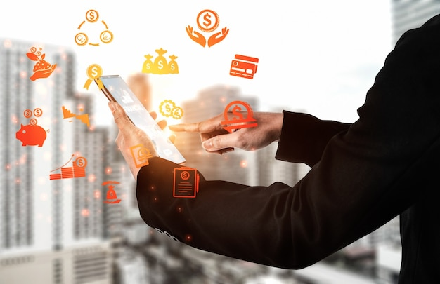 Finanza e transazione monetaria il concetto di tecnologia