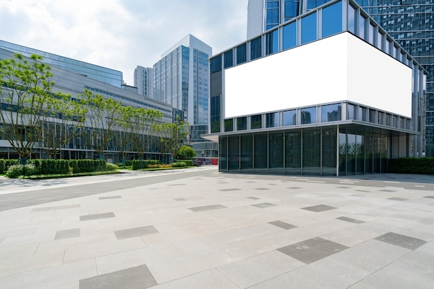Piazza del centro finanziario e edificio per uffici chongqing cina