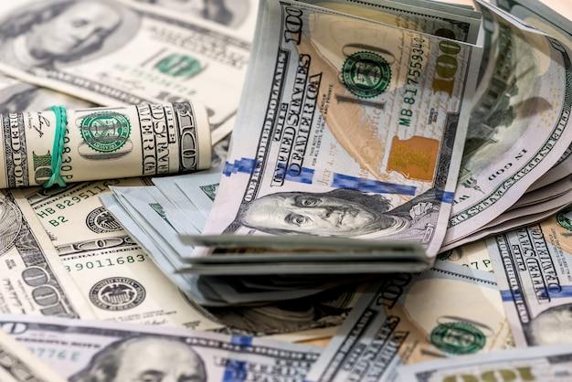 Concetto finanziario - sfondo da dollari usa