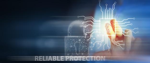 La scansione delle impronte digitali fornisce l'accesso di sicurezza con l'identificazione biometrica