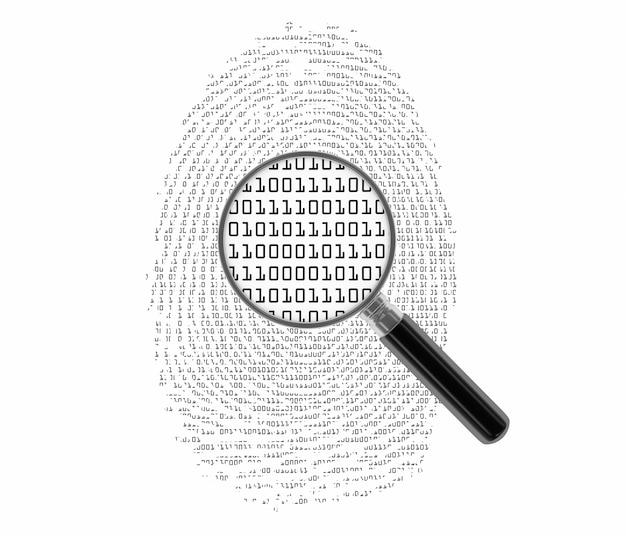 Impronta digitale con codice binario