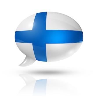 Nuvoletta bandiera finlandese