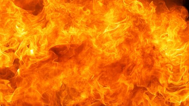 Il fuoco ha scoppiato il fondo di struttura, rapporto di hd completo