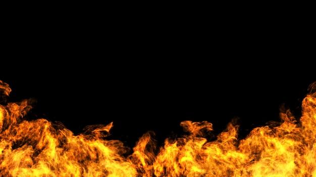 Progettazione di massima del fuoco su gackground nero
