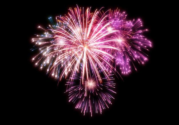 Sovrapposizione di fuochi d'artificio