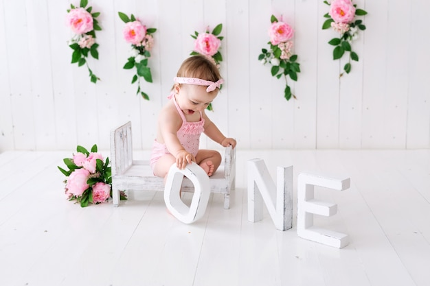 Il primo compleanno di una bambina.