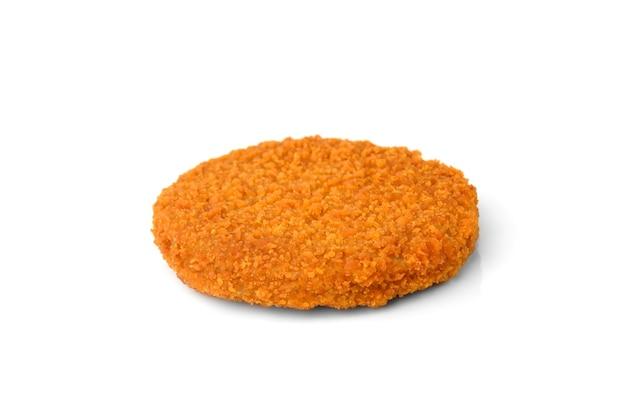 Hamburger di pesce isolati su sfondo bianco.
