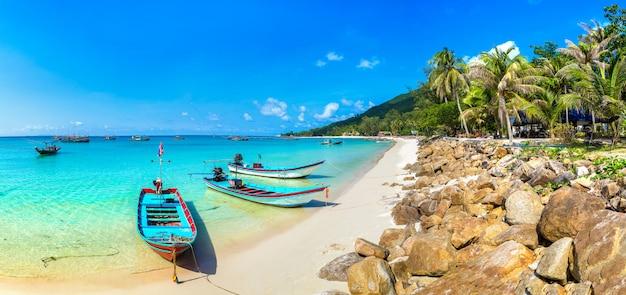 Barca del pescatore sull'isola di phangan