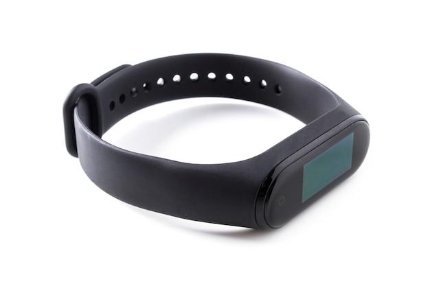 Fine del braccialetto di forma fisica in su isolata