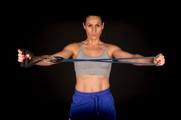 Fasce per esercizi di stretching donna fitness