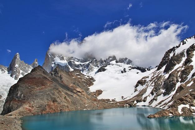 Il monte fitz roy vicino a el chalten in patagonia argentina