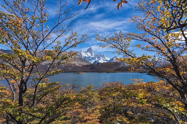 Monte fitz roy nel parco nazionale los glaciares, el chalten, patagonia, argentina.