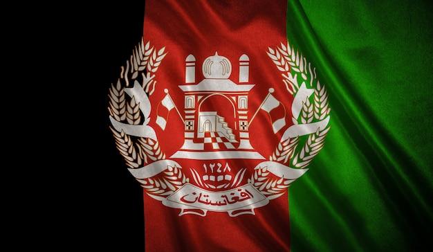 Bandiera dell'afghanistan sullo sfondo
