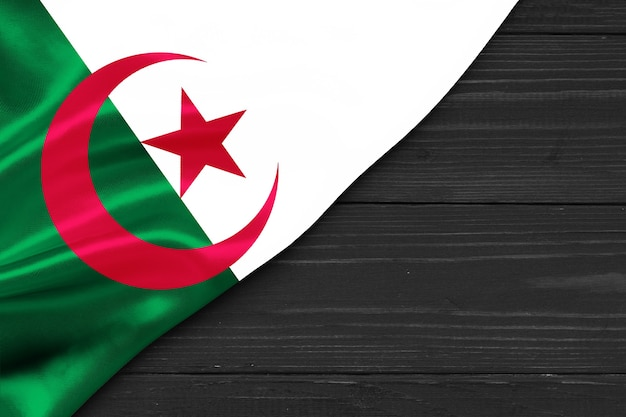 Bandiera dell'algeria copia spazio