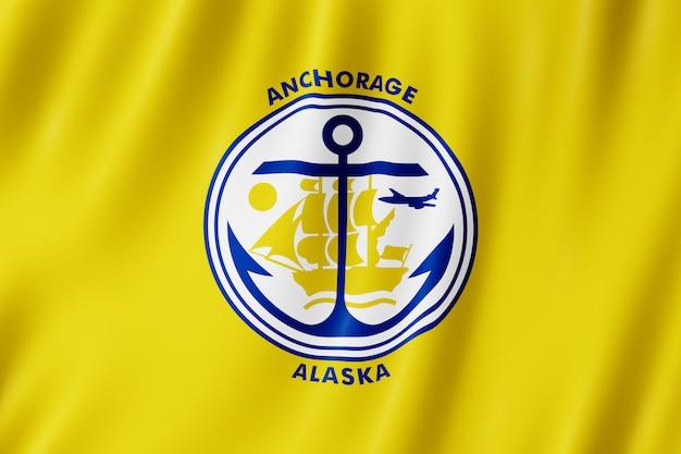 Bandiera della città di anchorage, alaska (us)