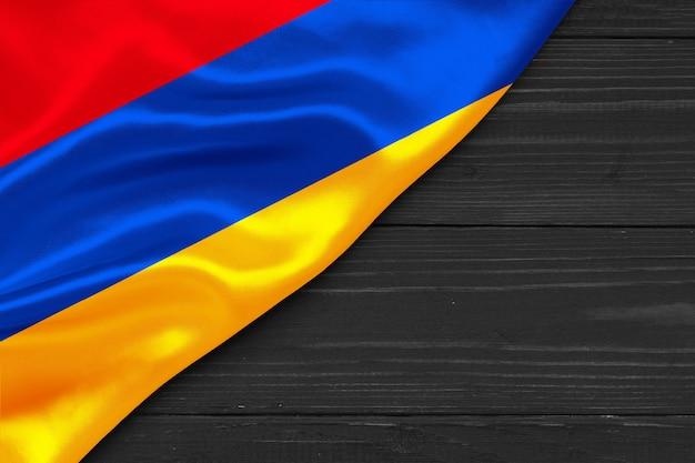 Bandiera dell'armenia copia spazio