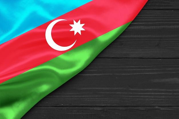 Bandiera dell'azerbaigian copia spazio