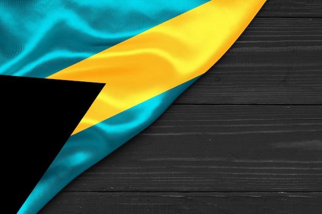 Bandiera delle bahamas copia spazio