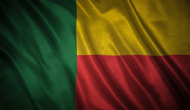Bandiera dello sfondo del benin