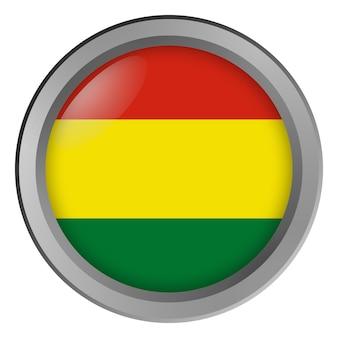 Bandiera della bolivia rotonda come un bottone