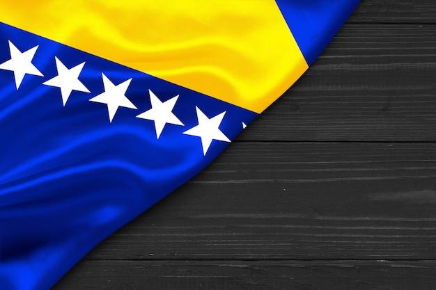Bandiera della bosnia-erzegovina copia spazio
