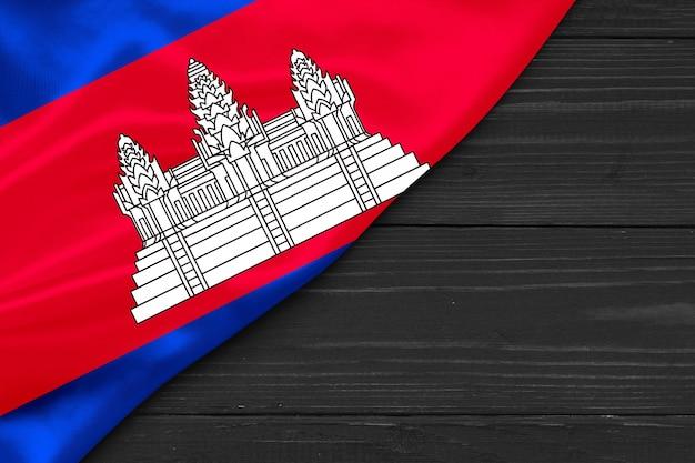 Bandiera della cambogia copia spazio