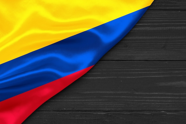 Bandiera della colombia copia spazio