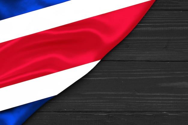 Bandiera della costa rica copia spazio