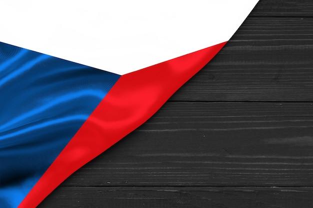 Bandiera della repubblica ceca copia spazio
