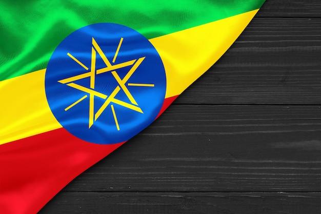 Bandiera dell'etiopia copia spazio