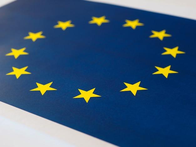 Bandiera dell'unione europea (ue) alias europa