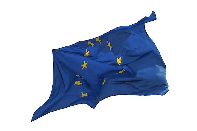 Bandiera dell'unione europea (ue) isolato su bianco
