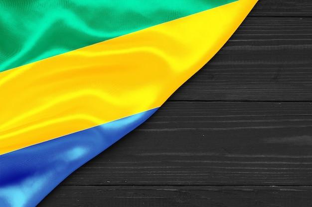Bandiera del gabon copia spazio