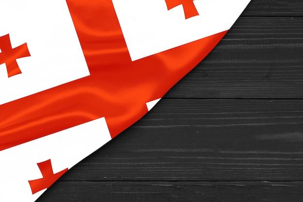 Bandiera della georgia copia spazio
