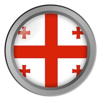 Bandiera della georgia rotonda come un bottone