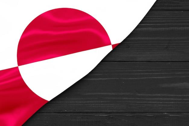 Bandiera della groenlandia copia spazio Foto Premium