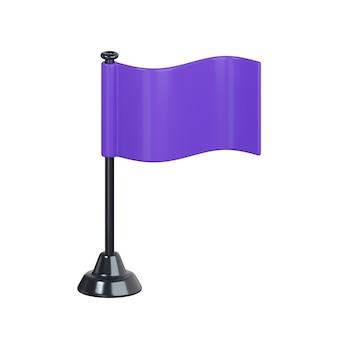 Icona bandiera isolato su bianco