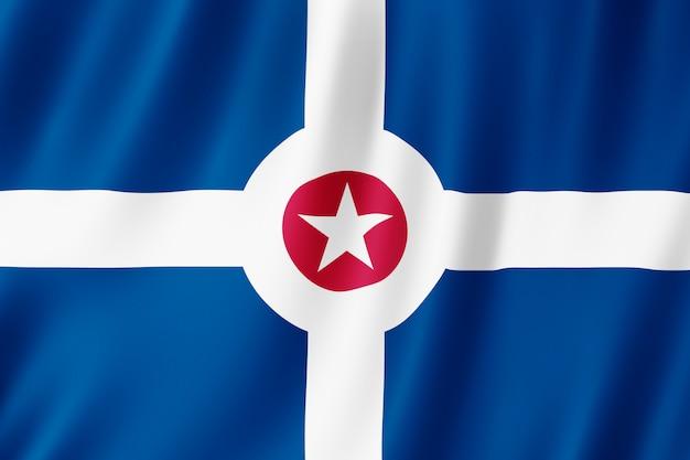 Bandiera della città di indianapolis, indiana (us)