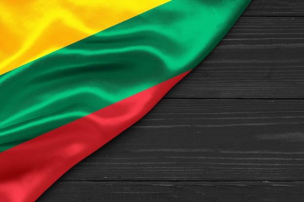 Bandiera della lituania copia spazio
