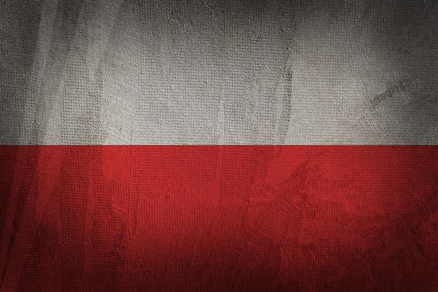 Bandiera della polonia sullo sfondo scuro trama