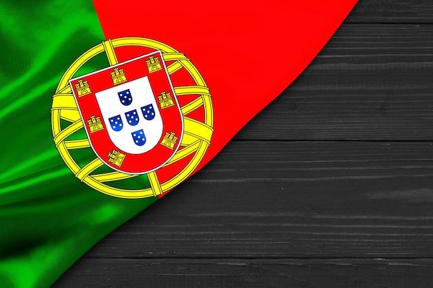 Bandiera del portogallo copia spazio