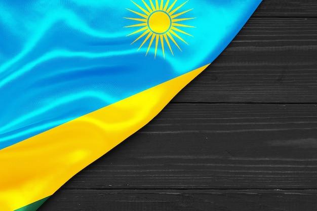 Bandiera del ruanda copia spazio