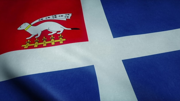 Bandiera di saint malo bandiera